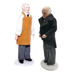 2 pçs 1:12 escala porcelana boneca modelo bela menina menino decoração crianças brinquedos
