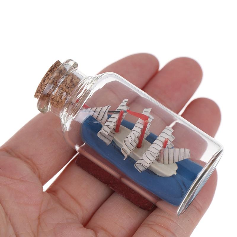 6*2.7CM Kids Toy Drift Bottle Miniature Dollhouse Glass Doll House Decor Micro Landscape Vintage Decoration Classic Toys