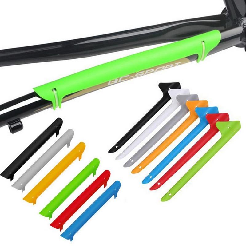 1 Pc Kleurrijke Plastic Bike Chain Guard Protector Fietsen Achterbrugbeschermer Zorg Frame Cover Guard Fiets Rijden Onderdelen