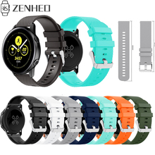 купить 20mm watch strap Silicone for Samsung Galaxy Watch 42mm band smart strap Replacement band For Samsung Gear sport S2 Accessories дешево