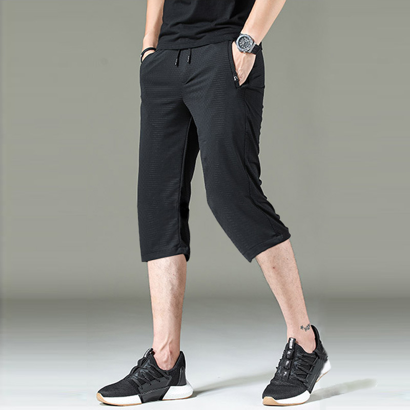Long Shorts Men 2020 Summer High Waist Elastic Breeches Plus Large Size 3/4 Length Bermuda Male Pocket Big Tall Men's Clothing