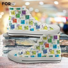 FORUDESIGNS Periodic Table of Elements Women Canvas Shoes Hi