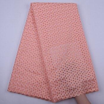 Lo último en tela de encaje africano 2020, encaje de alta calidad, tela de algodón 100%, tela de encaje de gasa nigeriana suiza para vestido de hombre Y1849