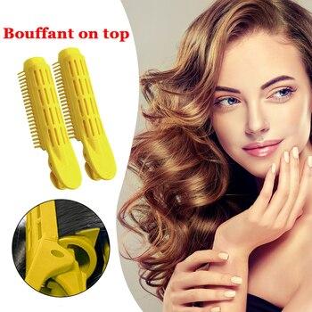 2 uds pinzas para el cabello pinzas para rizador Roots Perm Roots rodillos de estilismo herramientas de bricolaje esponjosas para el cabello ligero fácil de llevar pieza de pelo