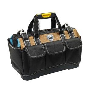 Image 5 - 도구 가방 휴대용 전기 가방 다기능 수리 설치 캔버스 대형 두꺼운 도구 가방 작업 포켓