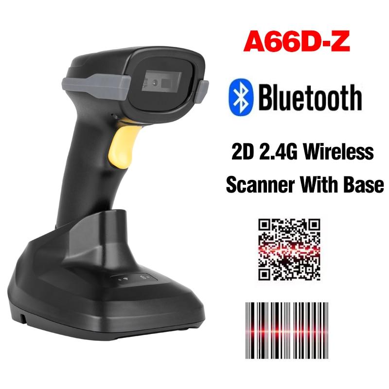 Беспроводной сканер штрих-кодов 1D 2D Handhel портативный Проводной лазерный CCD Bluetooth QR-код считыватель штрих-кодов для супермаркета склада