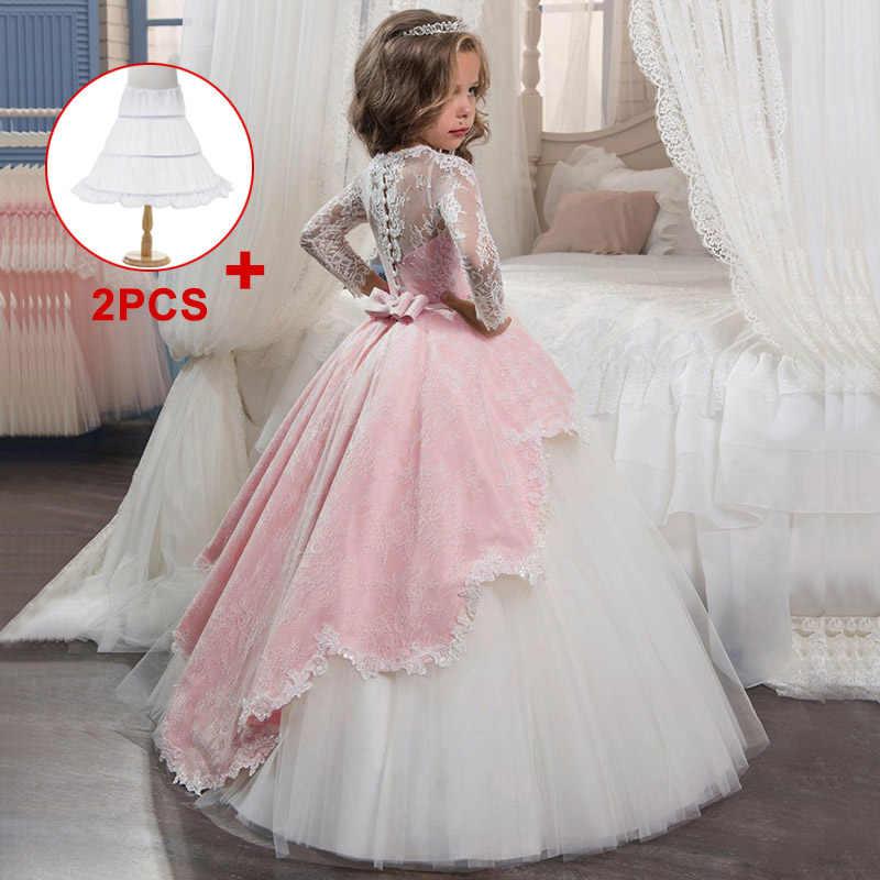 小売子供パーティーイブニングドレスレース夜会服フラワーガールのドレス初聖体のドレス