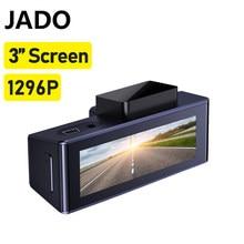 Jado câmera do carro dvr traço câmera reversa monitor ips tela colorida 1296p resolução hd completa 24h monitor de estacionamento câmera ação do carro