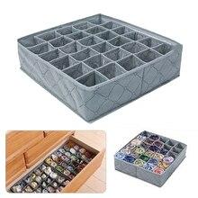 Складная Нижнее бельё для девочек выдвижной ящик с отделениями для хранения разделителями шкаф, органайзер для хранения коробка 30 сетки дл...