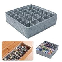 Faltbare Unterwäsche Schublade Organisatoren Lagerung Teiler Closet Organizer Lagerung Box 30 Grids für Kleidung Bhs Schals Krawatten Socken