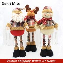 47 см рождественские украшения Санта-Клауса, натальная кукла, декор стола, рождественские украшения для дома, Decoracion Navidad Enfeite De Natal