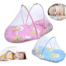 НОВЕЙШАЯ портативная складная детская кровать в горошек на молнии, москитная сетка, палатка, маленькая портативная складная детская москитная сетка