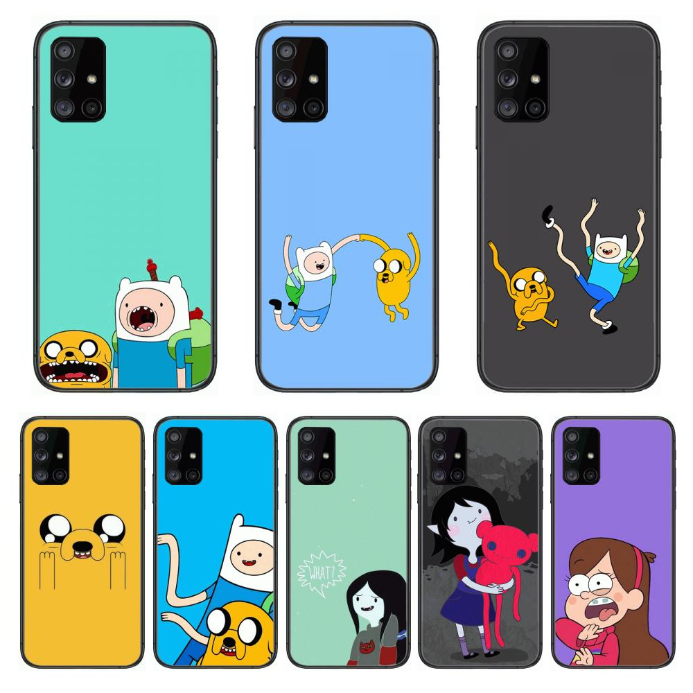 Adventure Time For style  Phone Case Hull For Samsung Galaxy A 90 50 51 20 71 70 40 30 10 80 E 5G S Black Shell Art Cell Cover