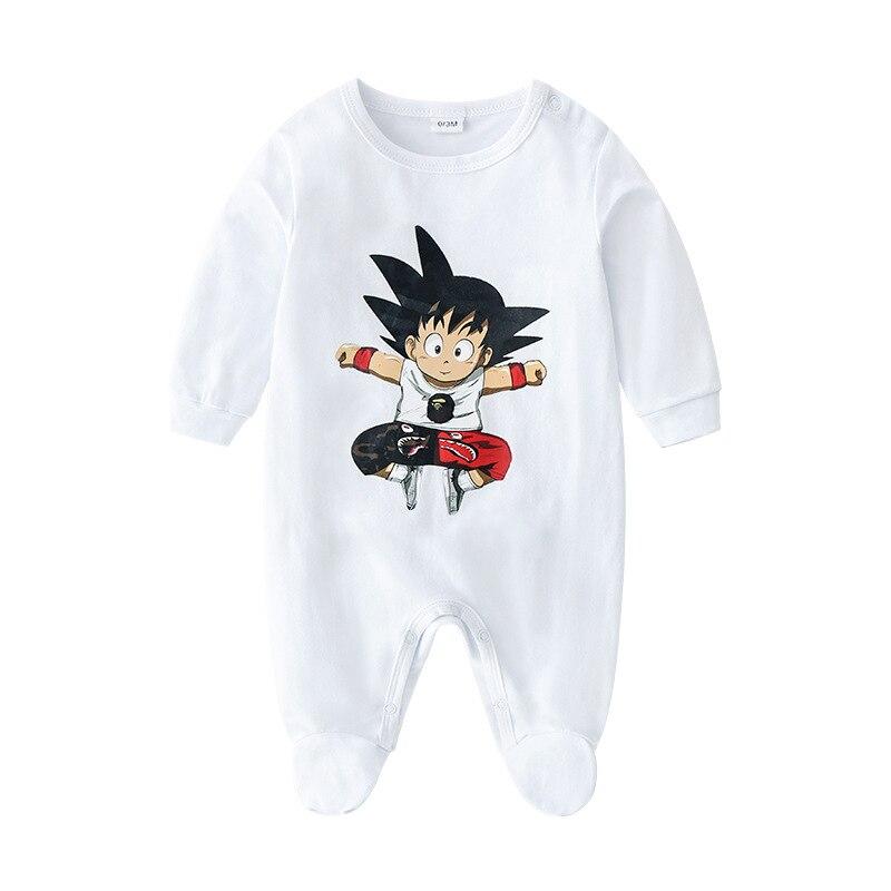 Primavera outono bebê macacão de algodão manga longa dragão abelha menina roupas dos desenhos animados da criança do bebê menino macacão bordado roupas