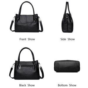 Image 4 - Torebki damskie skórzane torebki damskie Messenger projektant torebki damskie Crossbody torba na ramię Top torby z uchwytami dla dziewczynek sac a main