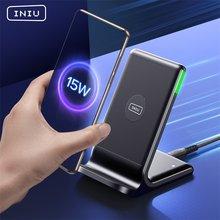 INIU – support de chargeur sans fil Qi 15W, indicateur LED Auto-adaptatif, tapis de Charge rapide pour téléphone iPhone 12 Xiaomi Mi Huawei Samsung LG