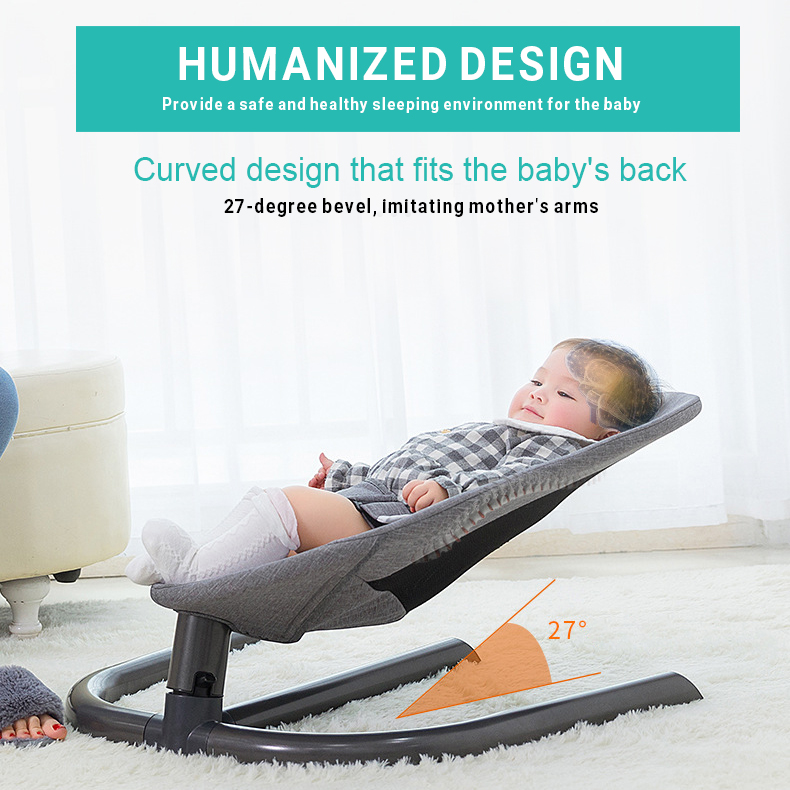 Hf442ccf2a0604dbfb53cc85f2daa3382j Newborn Baby Rocking Chair Baby Bed Swing Soothing Music Chair Non-electric Manual Swing Shaker Infant Cradle
