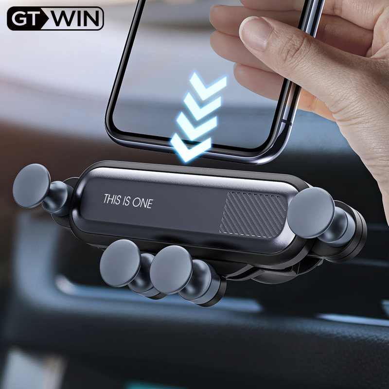 GTWIN Gravity Car Holder For Phone In Car Air Vent Clip Mount No Magnetic Mobile Phone Holder GPS Stand For IPhone XS MAX Xiaomi