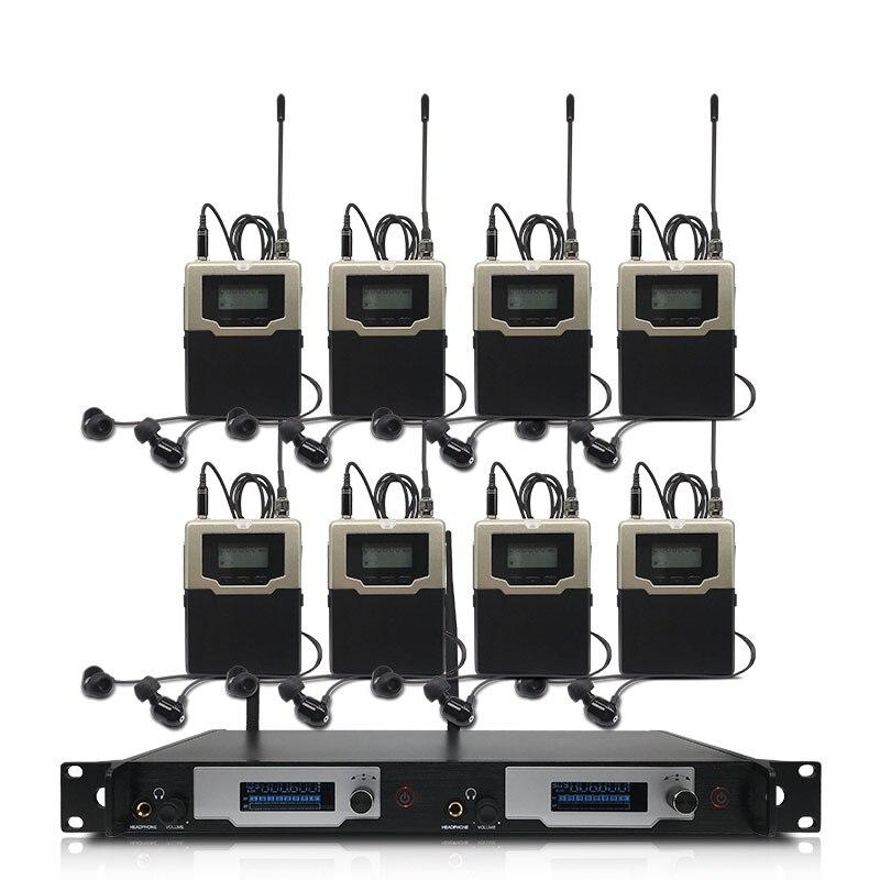 Wireless in-ear monitoring system, professionelle bühne leistung überwachung system mit 7 bodypack sender
