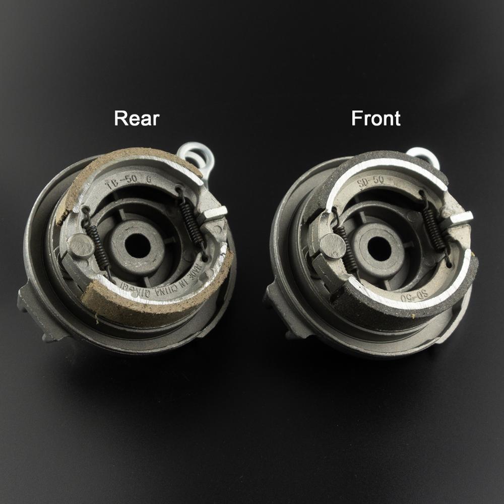 Front Or Rear Wheel Brake Shoe Aluminum Drum Brake Pads For 10