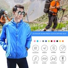 Jacket Zip-Closure Unisex Windbreaker Hooded Sun-Protection Polyester Hiking Outdoor