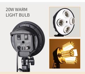 Image 2 - Photo Studio 8 LED 20W Softbox Kit Photographic Lighting Kit Camera & Photo Accessories 2 Light Stand 2 Softbox for Camera Photo