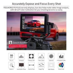 Image 2 - Монитор FEELWORLD F6 PLUS 4K, 5,5 дюйма, для камеры, цифровой зеркальной камеры, 3D, LUT, сенсорный экран IPS FHD 1920x1080, поддержка видеофокуса, поддержка HDMI