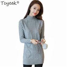 Turtleneck Sweater Women Autumn Long Pullover Thick Winter Bttom Clothes Knitted Sweaters Sueter Mujer LWL777(China)