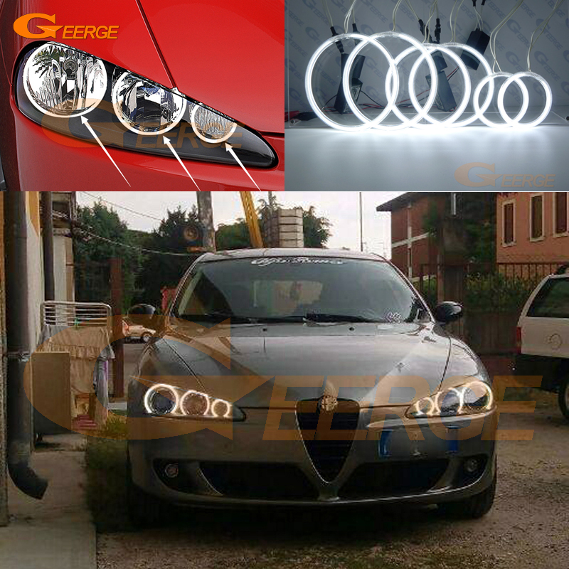 Excellent 6 Pcs Ultra Bright CCFL Angel Eyes Kit Halo Ring For Alfa Romeo 147 2005 2006 2007 2008 2009 2010