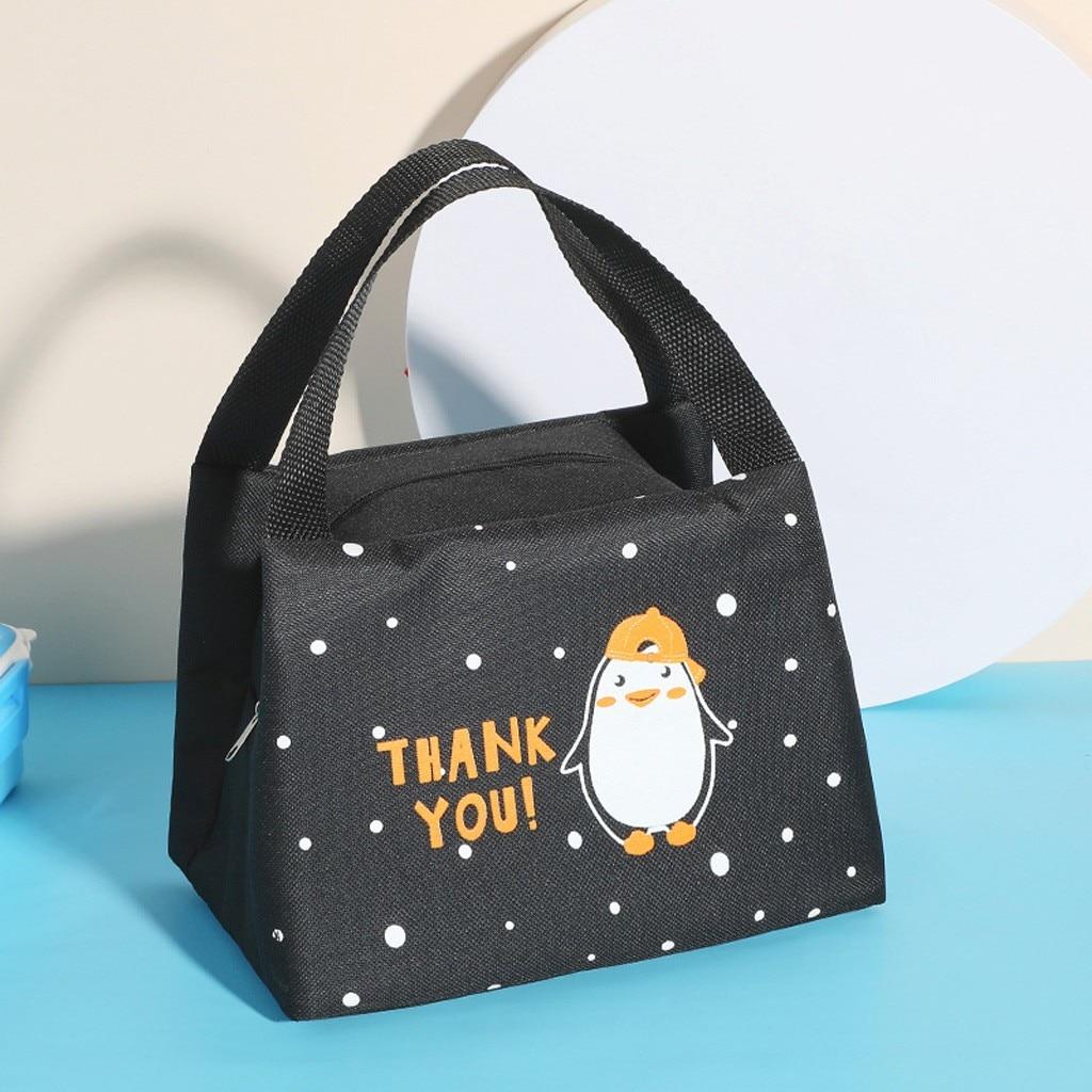 Портативная изолированная сумка для ланча с мультяшным принтом, чехол для переноски пикника, термопереносной Ланч-бокс, Термосумка # Y30
