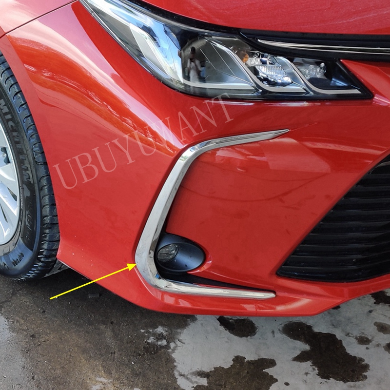 For Toyota Corolla 2019 2020 Car Rear Fog Light Coiver Trim ABS Chrome Exterior Foglight Styling 2pcs/set