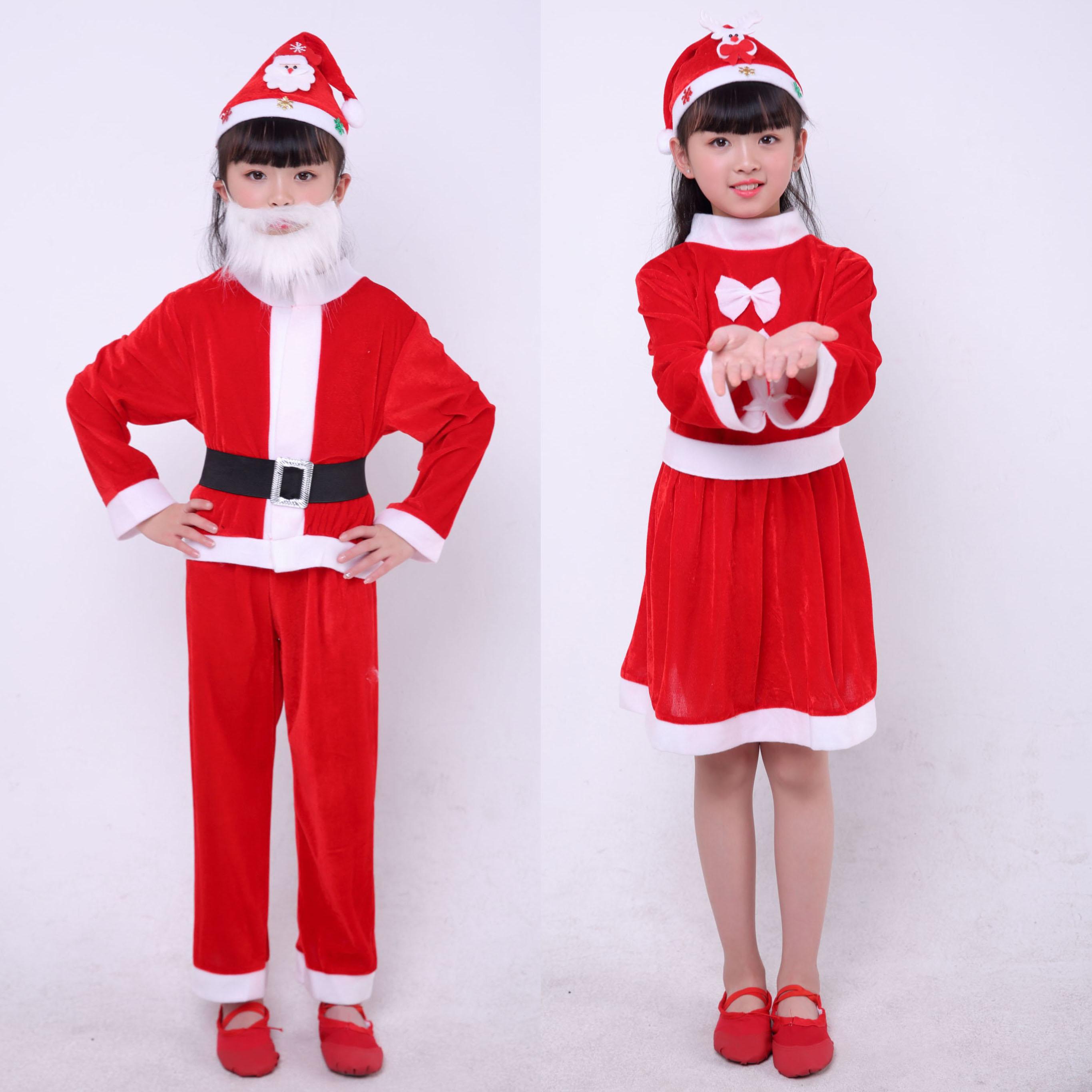 Girls Santa Reindeer Snowman Dress for Kids Christmas New Year Carnival Costume