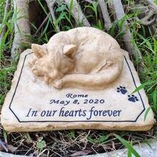Идеальный в память о кошке камень с 3d кошкой на верхней части
