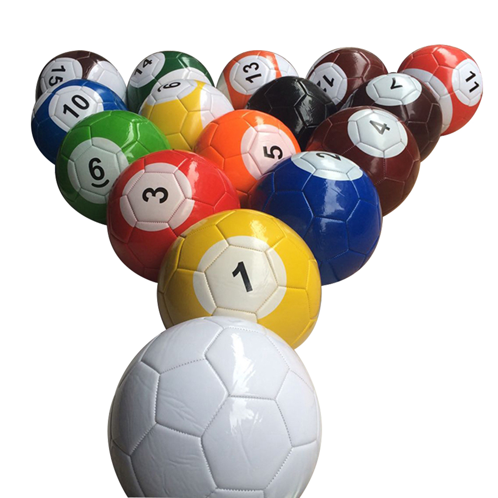 16Pcs/lot Billiard Soccer Ball Full Set Gaint Snookball Snook Ball Sport Toys Size 2 3 4 5 Snooker Street Game Football