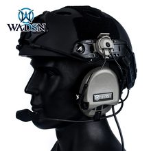 цена на Wadsn Sordin Tactical Headsets Communication Shooting Helmet Headphones with Rail Adapter Hunting Military Standard Earphones