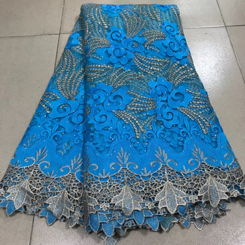 African Lace fabric 2020 High Quality Embroidered Lace French Tulle Lace Fabric for Nigeria Party Dress 5 yards wholesale