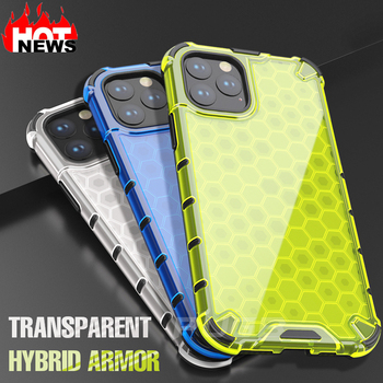 Shockproof Honeycomb Phone Case for Apple Iphone 12 Mini 11 Pro Max Xr Xs Max 6s 8 7 Plus Anti Shock Soft Silicone Cover Coque image