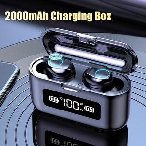 Беспроводные наушники TWS 2000 мАч, зарядный чехол светодиодный дисплей, водонепроницаемые наушники с микрофоном, беспроводные наушники Bluetooth ...