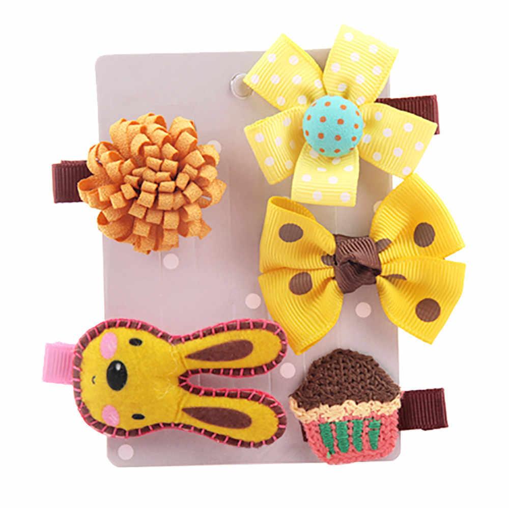 5 PCS Hot Sale Kids Infant Lovely Cute Fashion Hairpin Baby Girl Cartoon Animal Motifs Clip Set Beautiful Hair Accessories