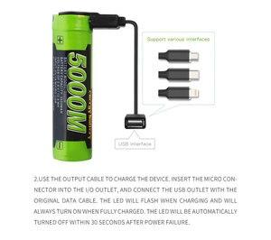 Image 2 - 노트북 배터리 5000M USB 18650 3.7V 3500mAh 리튬 이온 충전지 4 LED 표시기 전원 은행 배터리 모바일 충전 batte