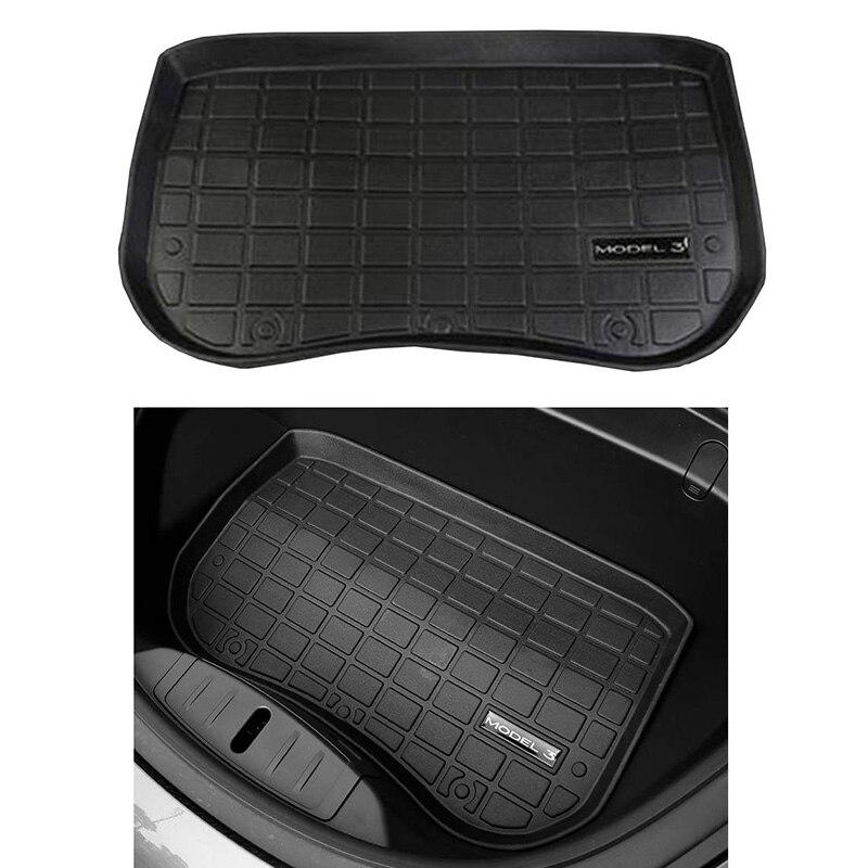 Hot Car Anteriore Zerbino Cargo Vassoio di Stoccaggio Tronco Tronco Impermeabile Pastiglie di Protezione Compatibile per Tesla Modello 3 Anteriore Scatola Dropshipping
