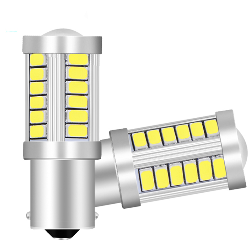 1pcs 1156 7506 BA15S P21W 5630 5730 LED Car Tail Bulb Brake Lights Auto Reverse Lamp Daytime Running Light Red White Yellow 12V