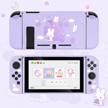 Geekshare Nintendo Switch Grape Rabbit Cute Purple Fairy League Soft TPU Cover Back Girp Shell For Nintend Switch