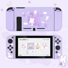 Geekshare Nintendo Switch Grape Rabbit Cute Purple Fairy League Soft Tpu Cover Back Girp Shell For Nintend Switch