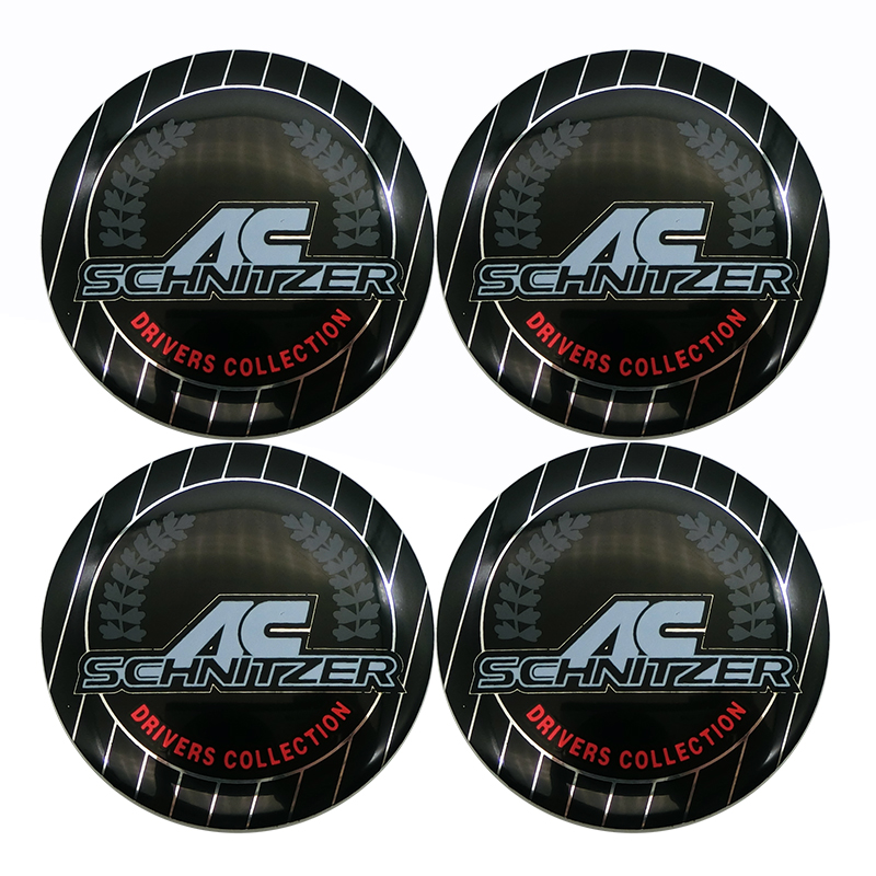 4pcs 56mm AC SCHNITZER Emblem Car Wheel Center Hub Caps For BMW E46 E90 E60 F30 F10 X1 X3 X5 X6 E39 E36 3D Metal Stickers image