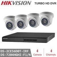 HIKVISION Version anglaise DS-7204HGHI-F1/N 1080P et DS-2CE56D0T-IRF 4CH KITS avec disque dur en option