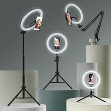 Anillo de luz Led para fotografía con soporte para móvil, trípode grande para Tik, Youtube, Tiktok, Tok