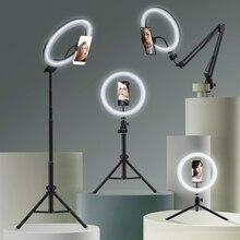 Selfie مصباح مصمم على شكل حلقة التصوير ضوء Led حافة من مصباح مع حامل الهاتف حامل ثلاثي القوائم الكبيرة ل Tik يوتيوب Tiktok Tok Ringlight