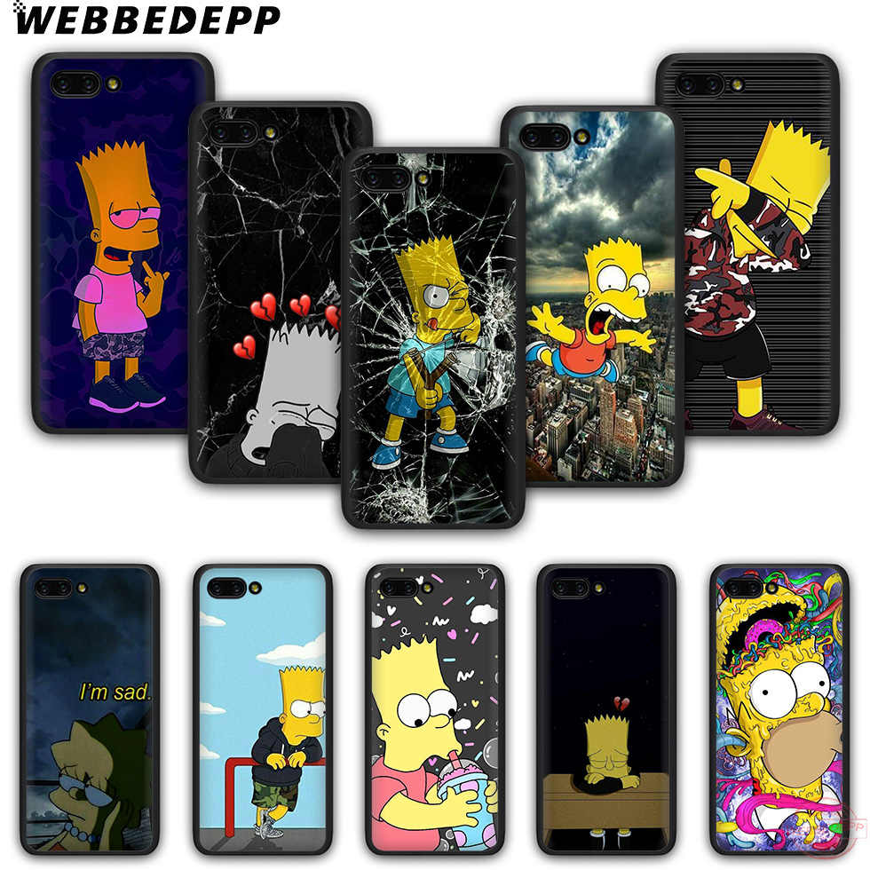 WEBBEDEPP The Simpson TPU Phone Case for Honor 6A 7A 2GB/3GB Pro 7C 5.99in 7X 8X 8C 9 10 Note10 for 8 9 10 Lite