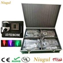 4 Uds 1500W máquina de humo DMX512 máquina de humo con 24x9W RGB luces LED etapa profesional DJ/Bar/hogar nebulizador opcional caja de vuelo